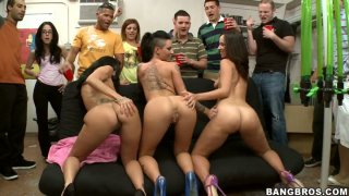 Skanky BangBros bitches Jada Stevens, Ava Addams and Christy Mack visit dorm