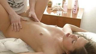 Angel welcomes studs muff plowing after massage