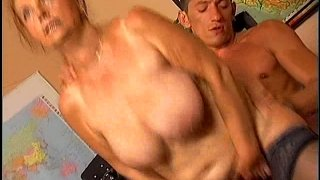 Mature whore with droopy boobs Linda rides a dick ardently