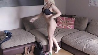 British fake agent sticks cock in blonde
