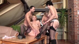 Three mature ladies catch a guy jerking off - Mature-nl.eu