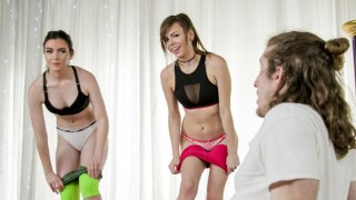 Perving in yoga class