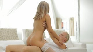Join beautiful tanned Tracy as she rocks her mans world with sheer lingerie and a long hard fuck....