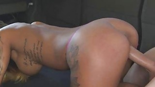 Slutty Latina With Tattoos Banged In The Back Of Van