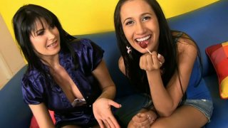 Horny Amia Miley & Eva Karera get ready for pleasing a strong shlong