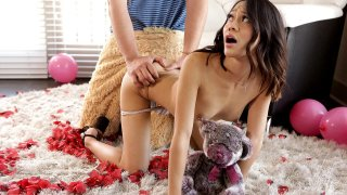 Stepbro in Fur Suit Tricks Stepsis on Valentine's Day!