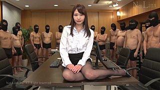 JAV surprise gang-bang for a businesswoman