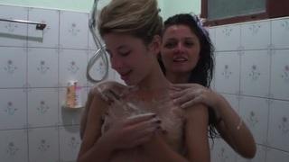 Vicktoria Tiffany in hot lesbian bitches enjoy sex at hotel room