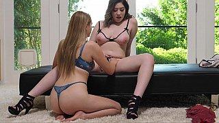 Lesbian intro to an FFM vid