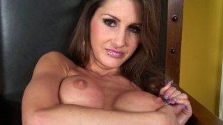 Dirty milf slut Evelin Rain masturbates passionately using a dildo