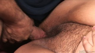 Obese Asian hooker Kelly Shibari gets her hairy cunt pounded
